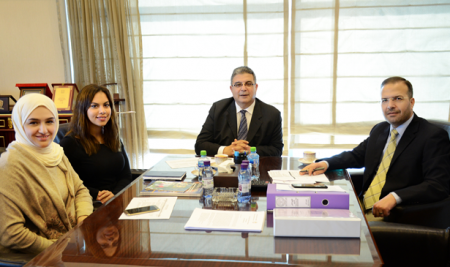 The Received President Ms.Nour Zenaty, Science & Innovation Network Adviser in the British Embassy